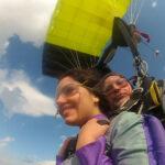 Полет под куполом парашюта